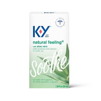 K-Y Natural Feeling Water-Based Lube with Aloe Vera - 1.69 fl oz