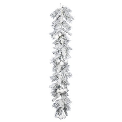 Vickerman 6' Frosted Beacon Pine Artificial Christmas Garland, Unlit