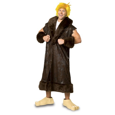 The Flint Stones Men's Barney Rubble Costume Brown - image 1 of 1
