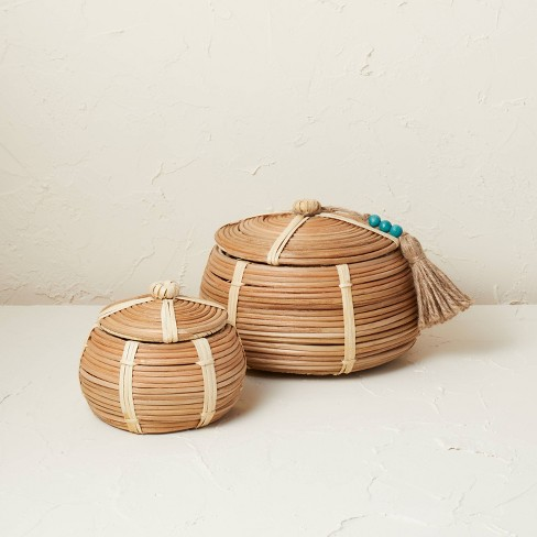 2pc Woven Canister Set Natural - Opalhouse™ designed with Jungalow™ - image 1 of 4