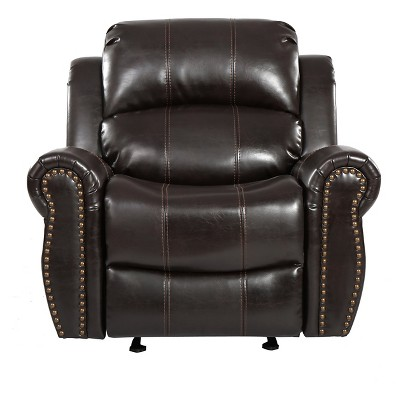 Charlie Bonded Leather Glider Recliner Club Chair - Christopher Knight Home
