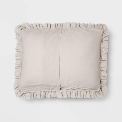 Vintage Washed Ruffle Quilt Pillow Sham - Threshold™ : Target