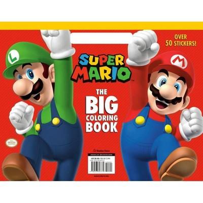Super Mario: The Big Coloring Book (Nintendo) - (Paperback) : Target