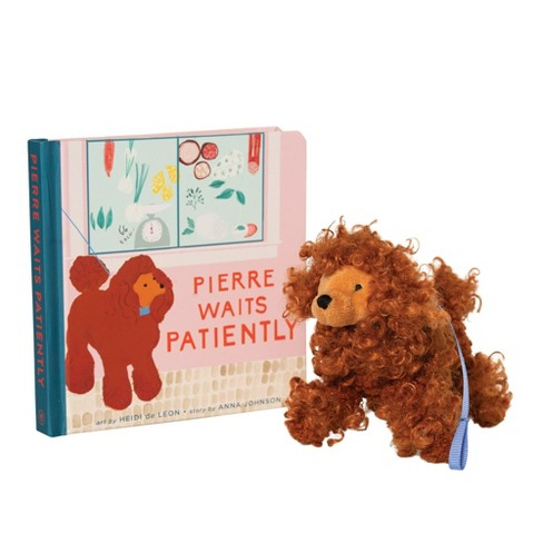 Set Of Dog Stuffed Animals, Manhattan Toy Pierre Waits Patiently Baby And Toddler Board Book Poodle Stuffed Animal Dog Gift Set Target