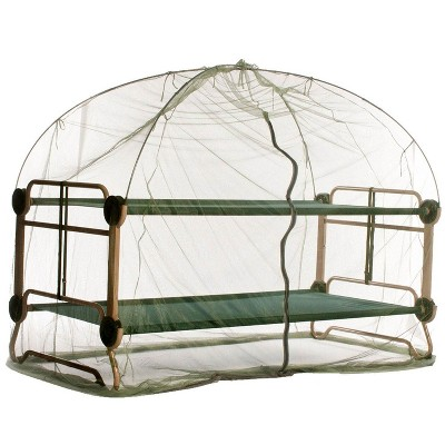 Disc-O-Bed X-Large Cam-O-Bunk Benched Bunked Double Cot + Mosquito Net and Frame