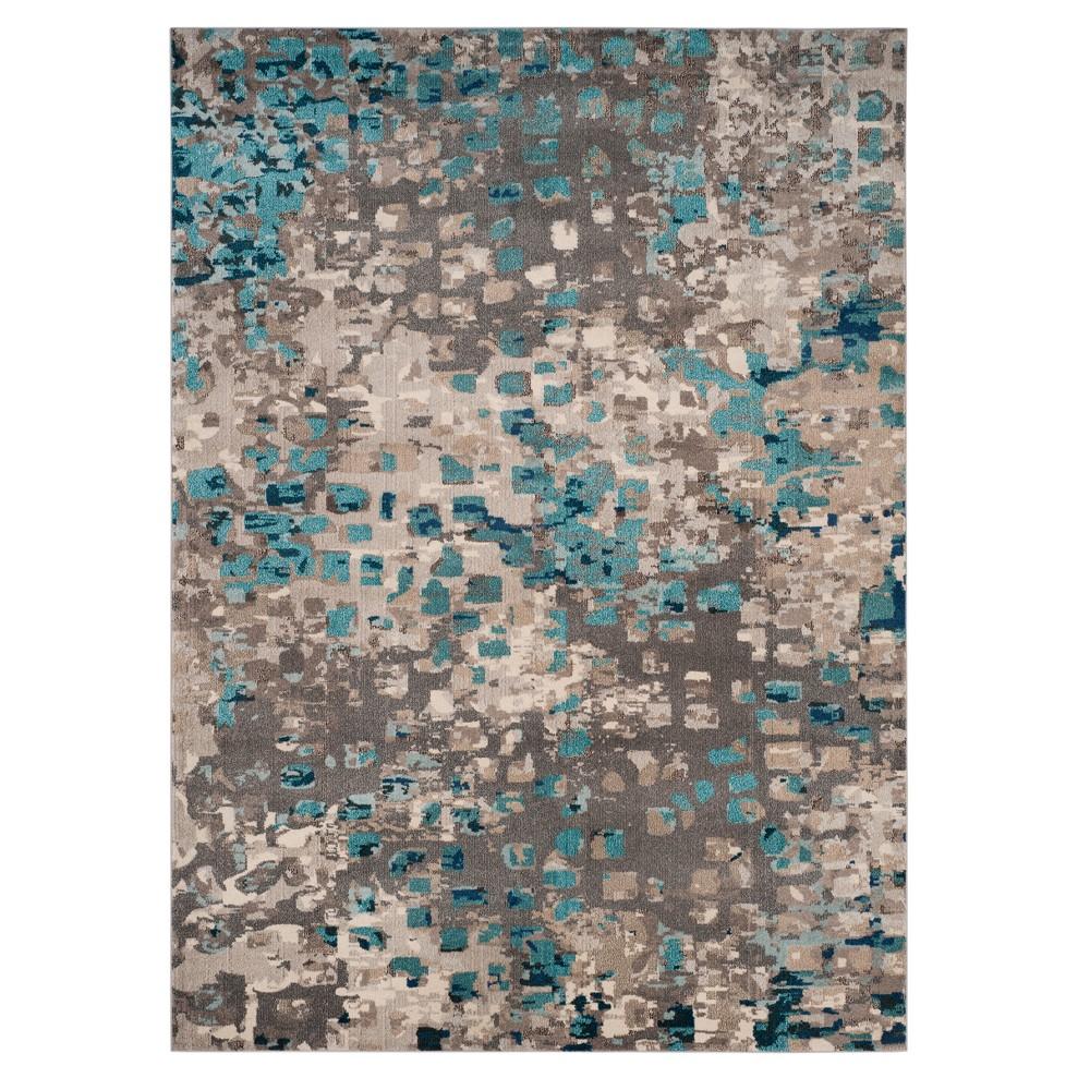 Gray/Light Blue Splatter Loomed Area Rug 8'X11' - Safavieh