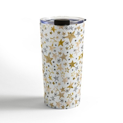 Ninola Design Winter stars holiday gold Travel Mug20 oz Stainless Steel Travel Mug - Deny Designs