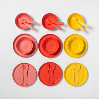 24pc Plastic Dinnerware Set - Pillowfort™