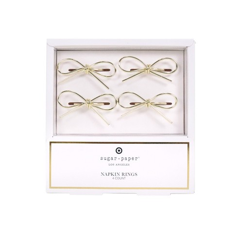 Bow Napkin Rings, Set of 4 - sugar paper™ - image 1 of 3