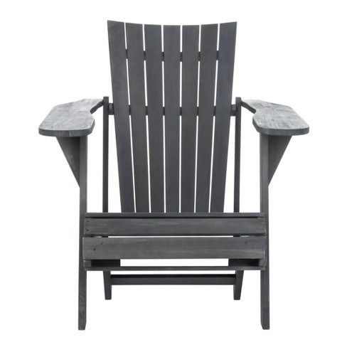 Merlin Adirondack Chair With Retractable Footrest - Ash Grey - Safavieh - image 1 of 4