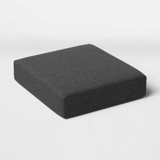 Woven Outdoor Deep Seat Cushion DuraSeason Fabric™ Charcoal - Threshold™
