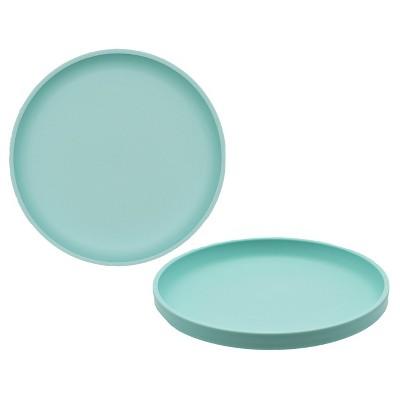 Big Kid's Round Salad Plate 9.6 x9.6  Plastic Sea Foam Green - Pillowfort™