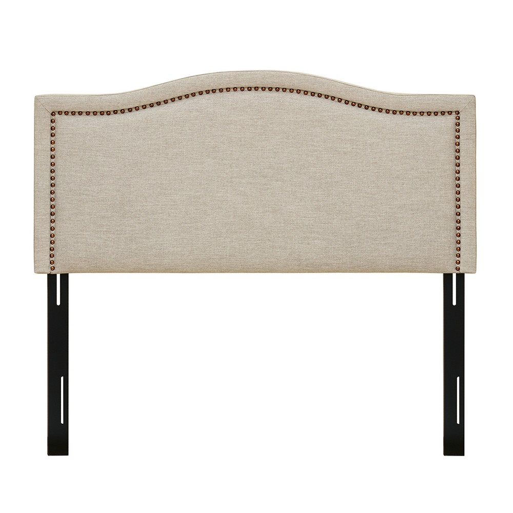Iverson Upholstery Headboard King Natural, White