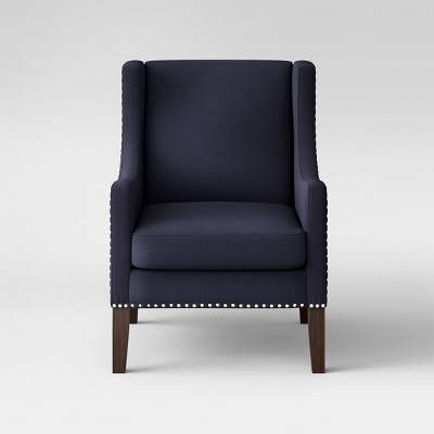 Wingback Chair with Nail Heads - Delight Navy - Threshold™