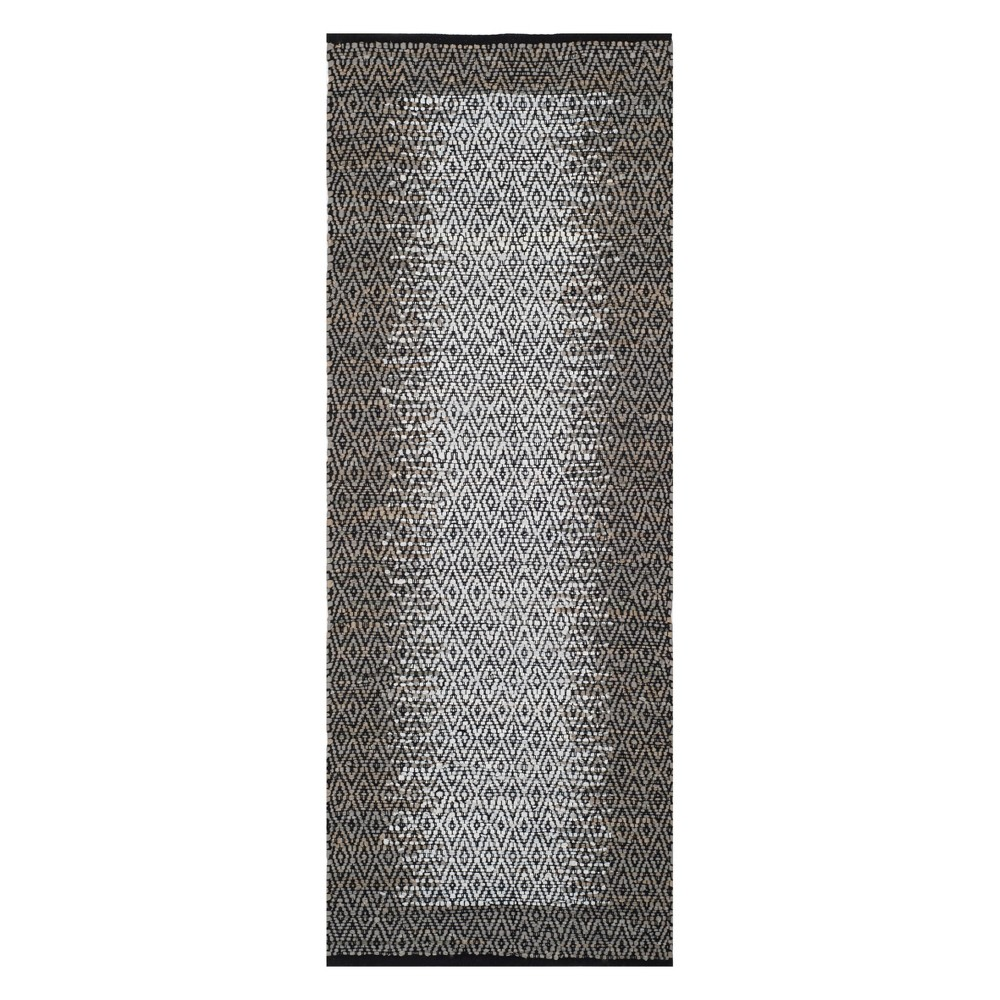 2'3X4' Geometric Woven Accent Rug Light Gray - Safavieh, Light Gray/Gray