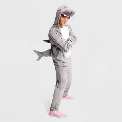 Adult Plush Gray Shark Halloween Costume - Hyde & EEK! Boutique™