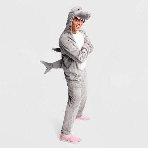 Adult Plush Gray Shark Halloween Costume - Hyde & EEK! Boutique™ - image 1 of 1