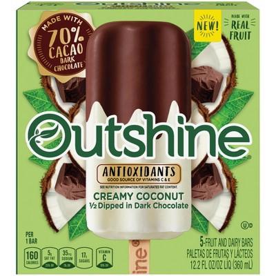 Outshine Half-Dipped Coconut Frozen Fruit Bar - 5ct