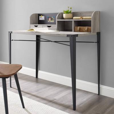 Industrial Secretary Desk With Hutch - Saracina Home : Target