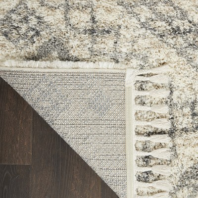 Nourison Scandinavian Shag SCN02 Ivory/Grey Area Rug : Target