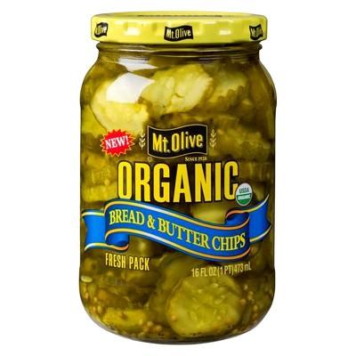 Mt. Olive Organic Bread & Butter Pickle Chips - 16 fl oz