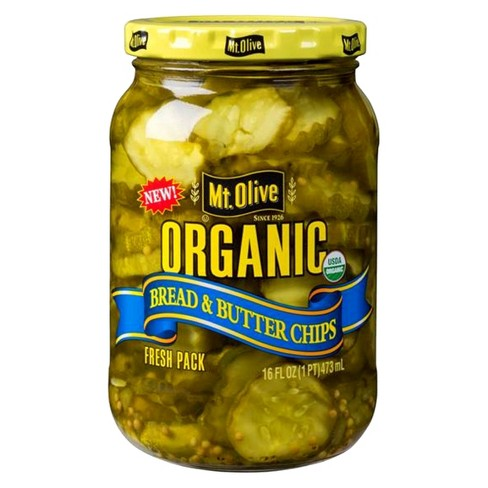 Mt. Olive Organic Bread & Butter Pickle Chips - 16 fl oz - image 1 of 4