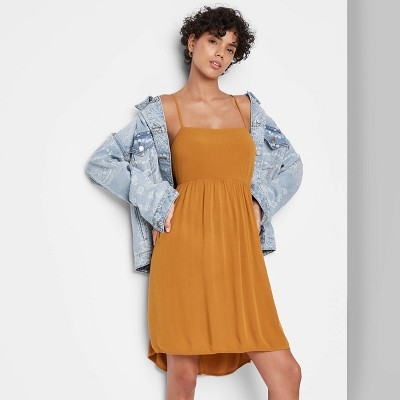 Women's Sleeveless Open Back Babydoll Dress - Wild Fable™
