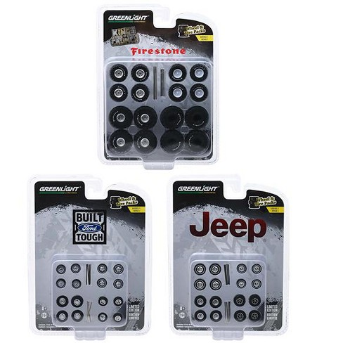 """Wheel & Tire Packs"" Series 1, Set of 3 Multipacks 1/64 by Greenlight - image 1 of 4"