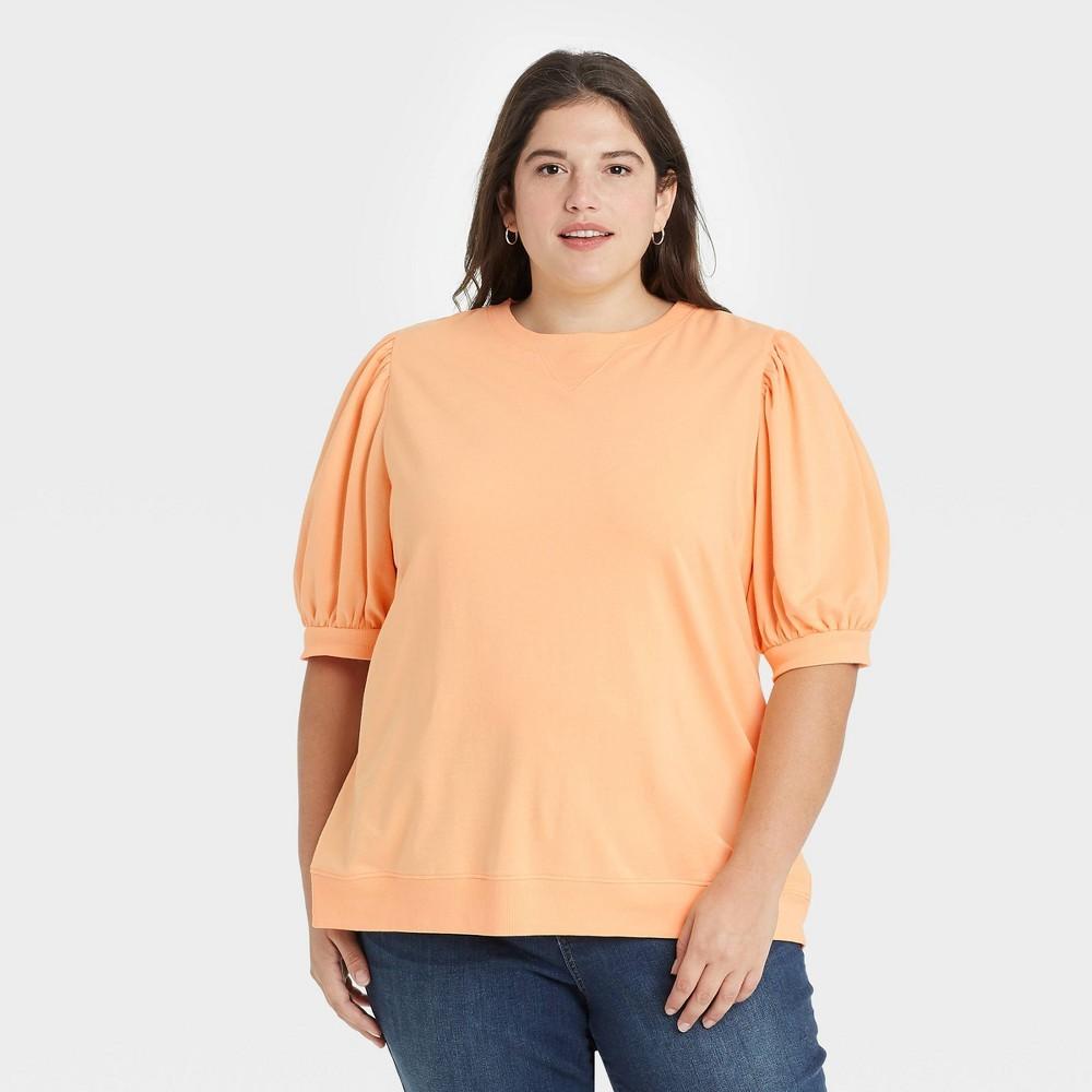 Women 39 S Plus Size Sweatshirt Ava 38 Viv 8482 Orange X