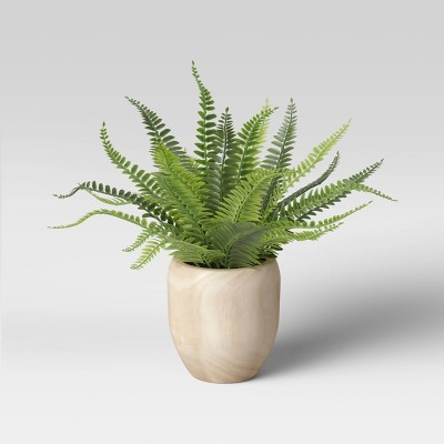 "13"" x 14"" Artificial Fern Arrangement in Pot - Threshold™"