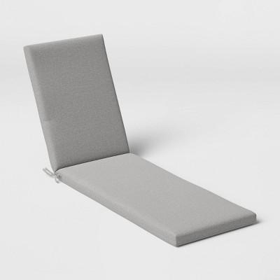 Woven Outdoor Chaise Cushion DuraSeason Fabric™ Gray - Threshold™