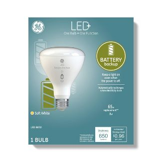 General Electric BR30 Battery Back Up LED+ Light Bulb - Clear