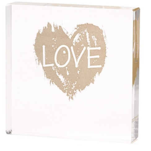 Love Heart' Clear Cake Topper - image 1 of 1