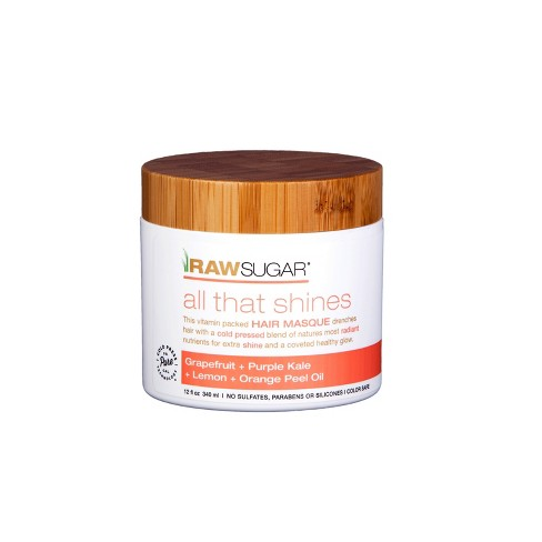 Raw Sugar All That Shines Hair Masque Grapefruit + Kale + Lemon + Orange Peel Oil - 12 fl oz - image 1 of 3