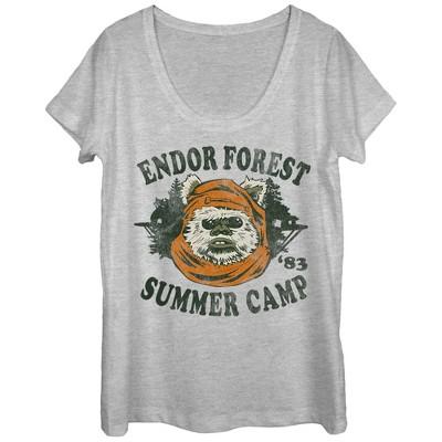 Women's Star Wars Ewok Summer Camp Scoop Neck