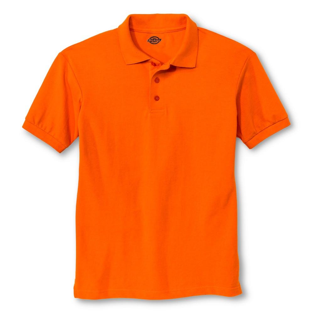 Dickies Men's Pique Uniform Polo Shirt - Orange Xxl
