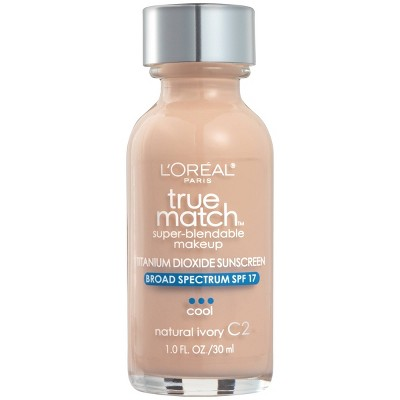 L'Oreal Paris True Match Super-Blendable Foundation Makeup with SPF 17 - 1 fl oz