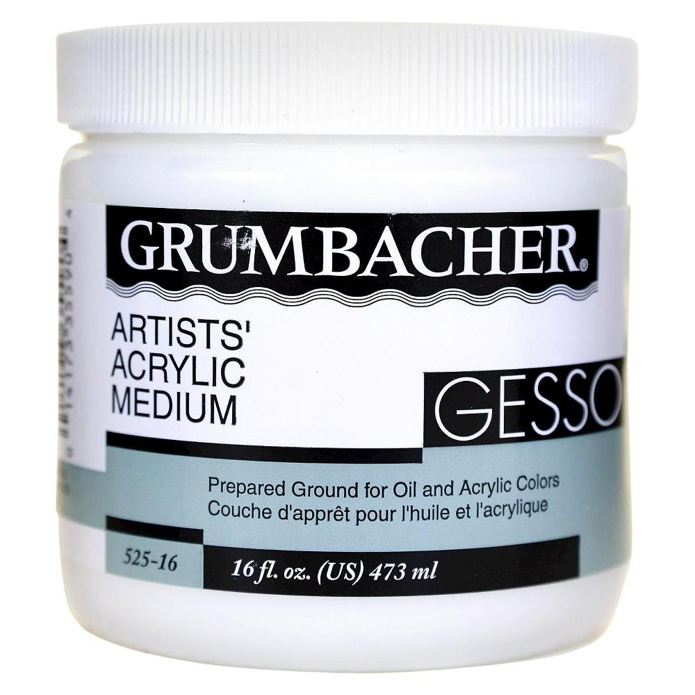 Image of Grumbacher Acrylic Gesso - 16oz