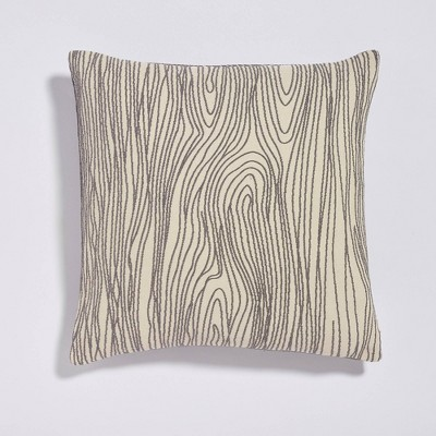 """20""""x20"""" Scribbles Woven Throw Pillow Gray - Sure Fit"""