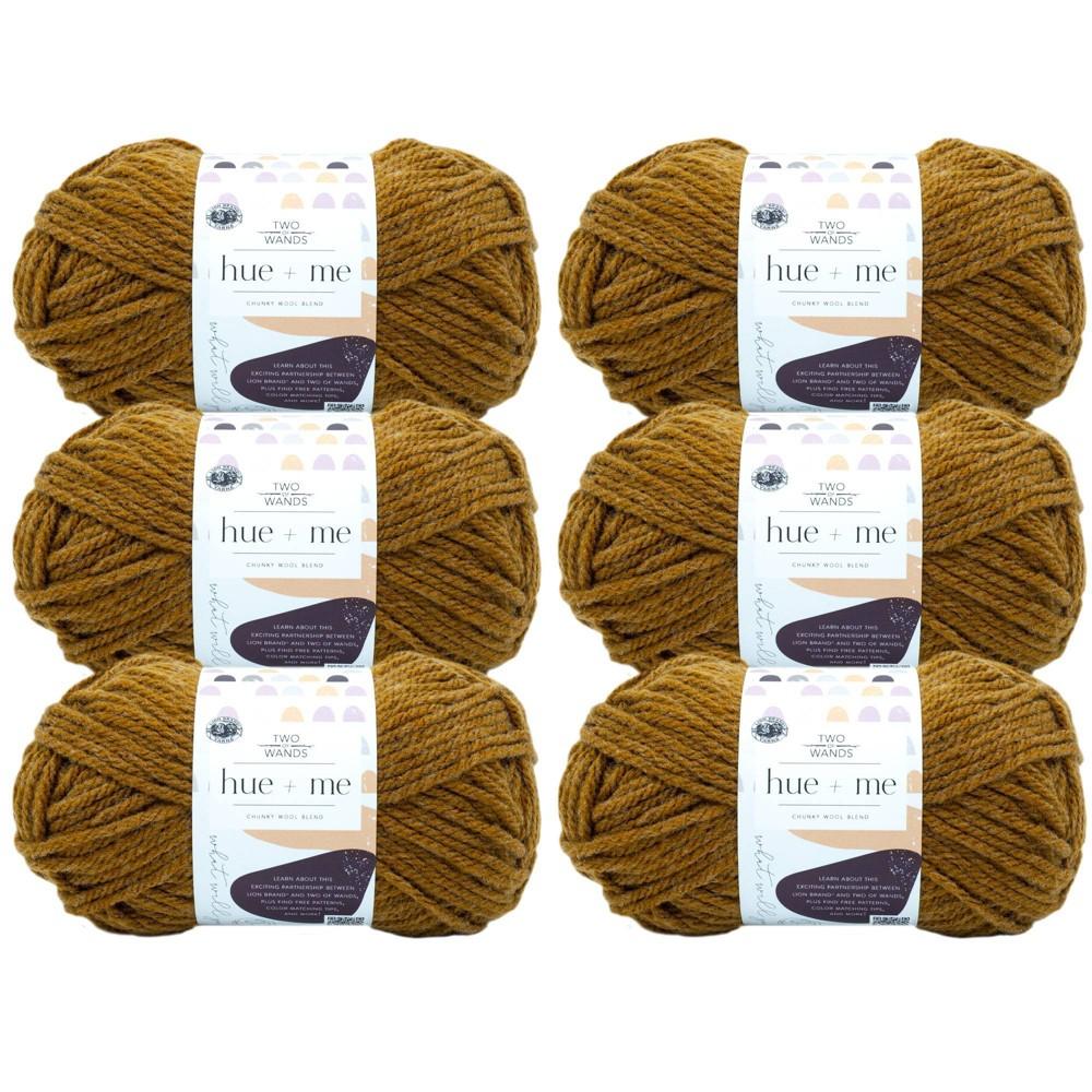 6pk Hue Me Yarn Arrowwood Lion Brand Yarn