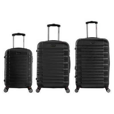 InUSA New York 3pc Hardside Spinner Luggage Set 20 & 24 & 28  - Black