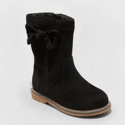 Toddler Girls' Olivia Zipper Slip-On Riding Boots - Cat & Jack™ Black