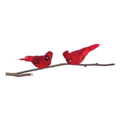 Gallerie II Red Cardinal Feather Birds Clip Christmas Xmas Ornament A/2