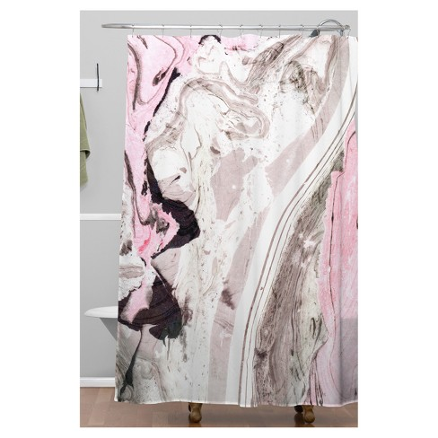 Marble Shower Curtain Pink