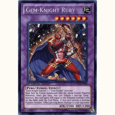 SECRET RARE HA05-EN019 GEM-KNIGHT RUBY YU-GI-OH