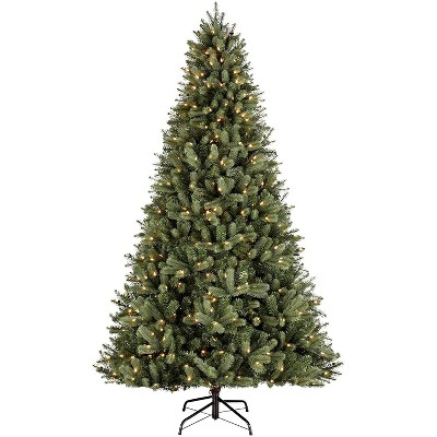 NOMA CTI1514418 7.5 Foot Winston Artificial 1789 Branch Tips Spruce Prelit with 500 Warm White LED Lights Holiday Christmas Tree, Green