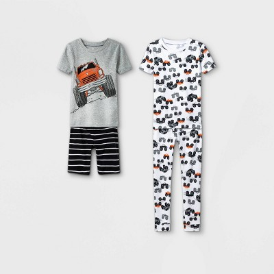 Boys' 4pc Monster Truck Pajama Set - Just One You® made by carter's Gray