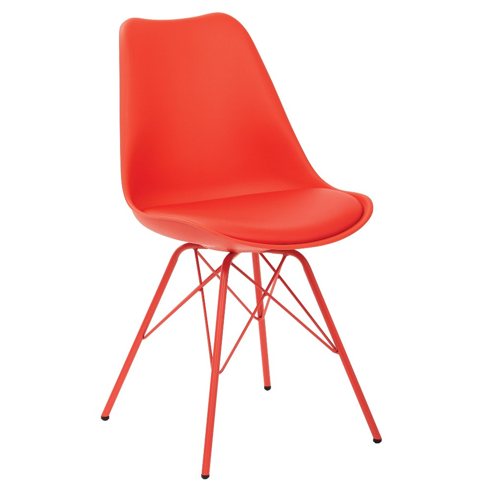 Set of 2 Emerson Side Chair Red - Osp Home Furnishings