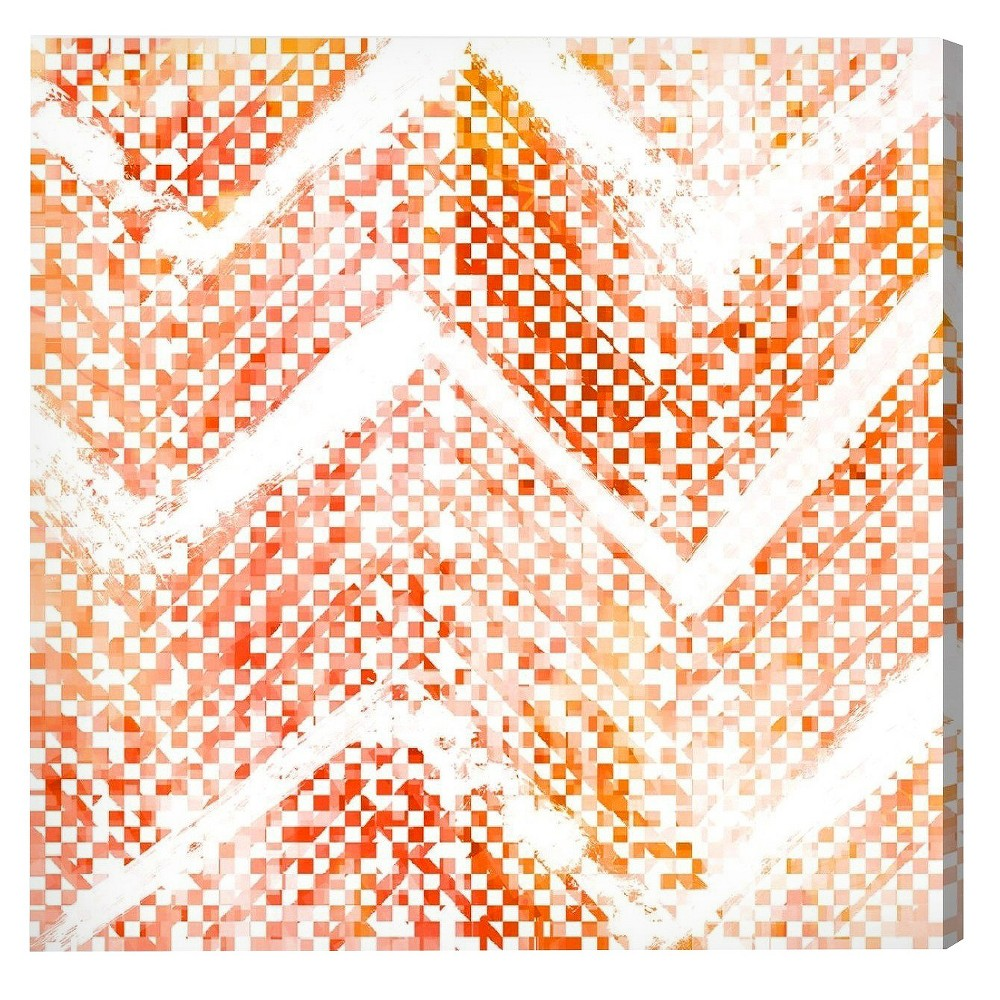 """Image of """"Oliver Gal Unframed Wall """"""""Isolee Coral"""""""" Canvas Art (20x20), Red White"""""""