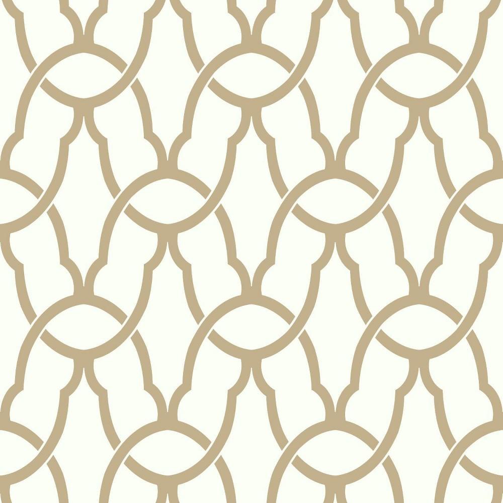 Trellis Peel & Stick Wallpaper Gold - RoomMates